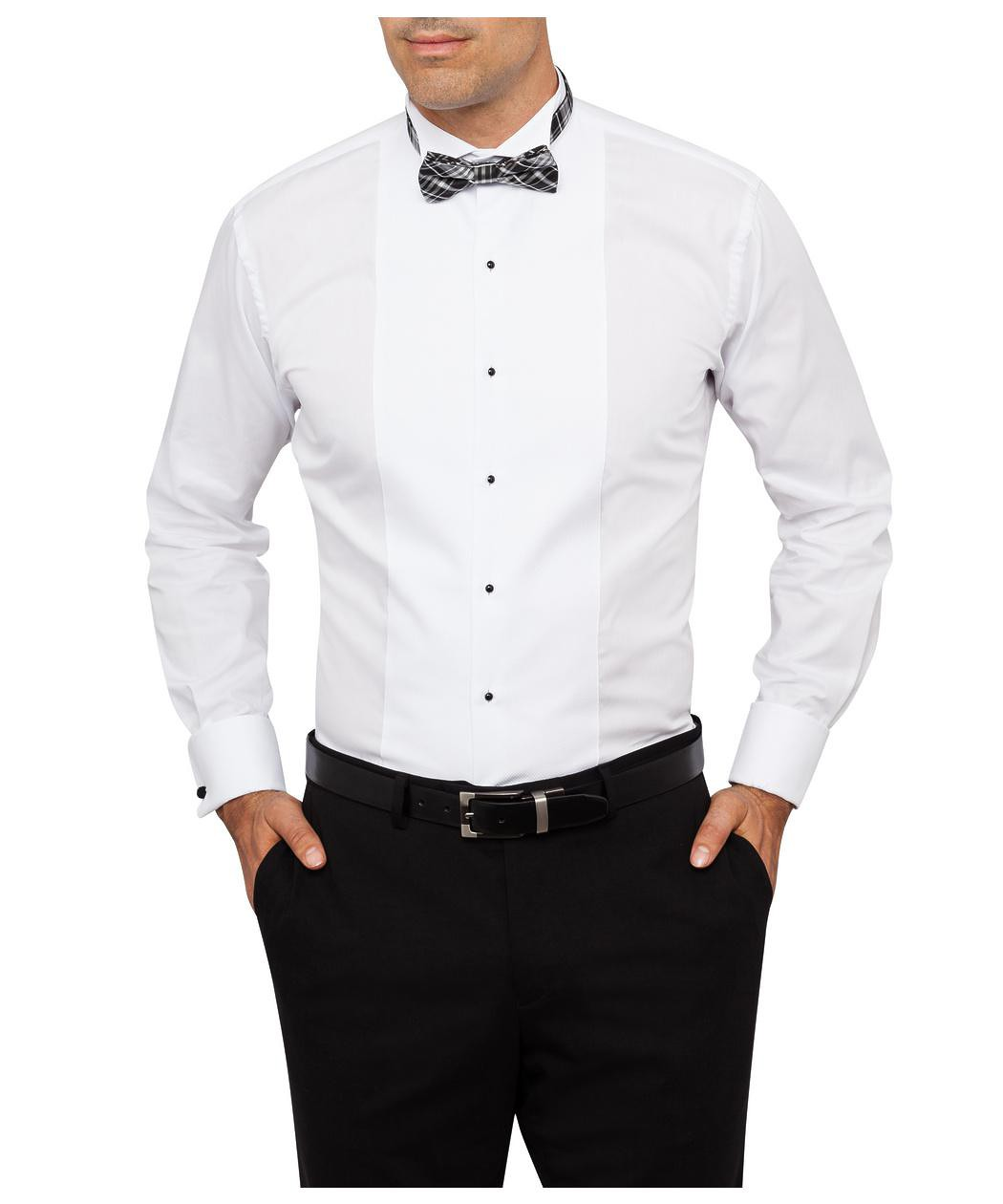 Formal Tuxedo Shirt Wing Collar Marcella Front Euro
