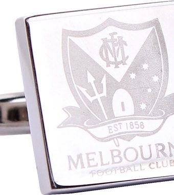 AFL Cufflinks Melbourne Demons Silver
